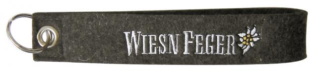 Filz-Schlüsselanhänger mit Stick Wiesn Feger Gr. ca. 19x3cm 14005 braun