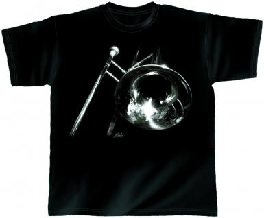Designer T-Shirt - Trombone - von ROCK YOU MUSIC SHIRTS - 10681 - Gr. S - XXL