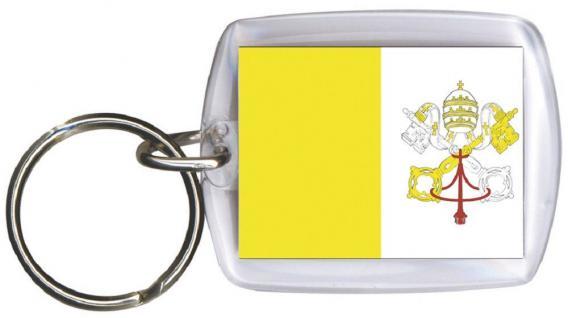 Schlüsselanhänger Anhänger - VATIKANSTADT - Gr. ca. 4x5cm - 81183 - Keyholder WM Länder