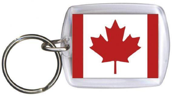 Schlüsselanhänger Keyholder - KANADA - Gr. ca. 4x5cm - 81077 - WM Länder