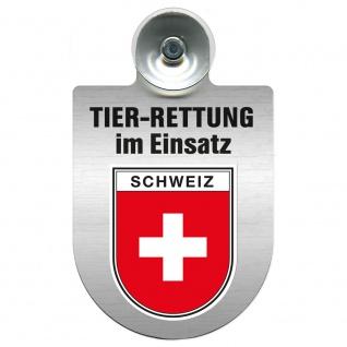 Einsatzschild mit Saugnapf Tier Rettung im Einsatz 393839 Region Schweiz