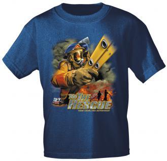 T-Shirt mit Print - Feuerwehr - 10589 - versch. Farben zur Wahl - Gr. Navy / XXL