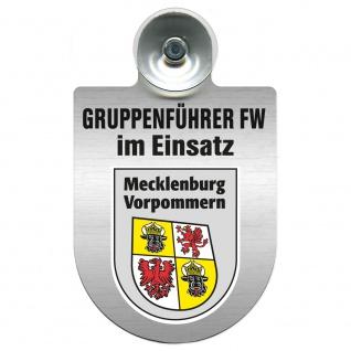 Einsatzschild Windschutzscheibe incl. Saugnapf - Gruppenführer Feuerwehr im Einsatz - 309750 Region Mecklenburg-Vorpommern