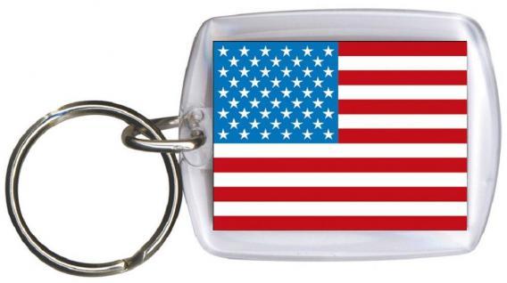 (81180) Schlüsselanhänger Anhänger - USA - Gr. ca. 4x5cm - 81180 - Keyholder WM Länder