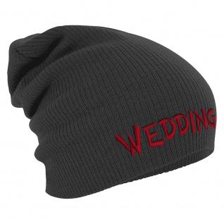 Longbeanie Slouch-Beanie Wintermütze Wedding 54890 grau