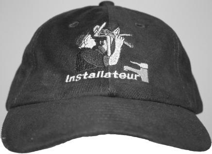Cap mit zunftiger Einstickung Installationen Beruf Zunft - Installateur - 68616 schwarz - Baseballcap Baumwollcap Cappy Kappe