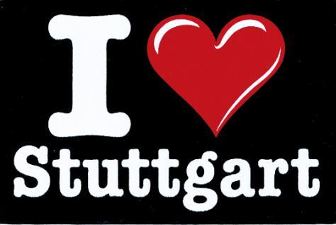 Magnet - PVC-Aufkleber- Sticker - I love Stutgart - 301909-1 - Gr. ca. 4, 5 x 3cm