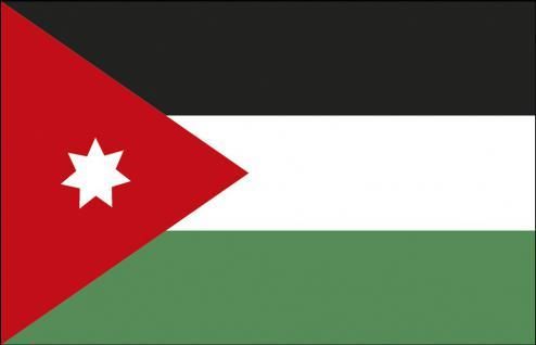 Schwenkfahne Stockländerfahne - Jordanien - Gr. ca. 40x30cm - 77074 - Flagge Länder