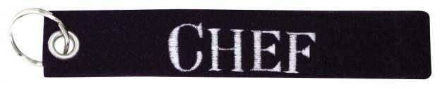 Filz-Schlüsselanhänger mit Stick CHEF Gr. ca. 17x3cm 14157 schwarz
