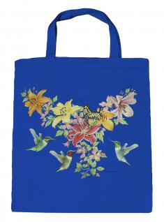 (U06996)Umweltfreundliche Baumwoll - Tasche , ca. 28 x 43 cm mit Aufdruck in 7 Farben blau