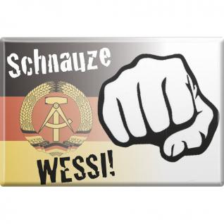 Küchenmagnet - Schnauze Wessi - Gr. ca. 8 x 5, 5 cm - 38792 - Magnet Kühlschrankmagnet