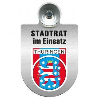 Einsatzschild Windschutzscheibe incl. Saugnapf - Stadtrat im Einsatz - 309394 Region Thüringen