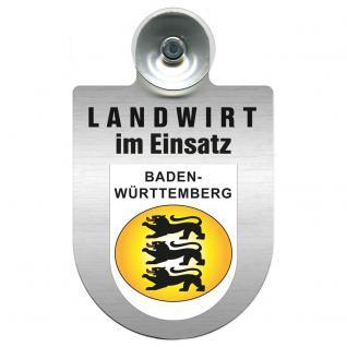 Einsatzschild Windschutzscheibe incl. Saugnapf - Landwirt- im Einsatz - 309369-1 - Region Baden-Württemberg