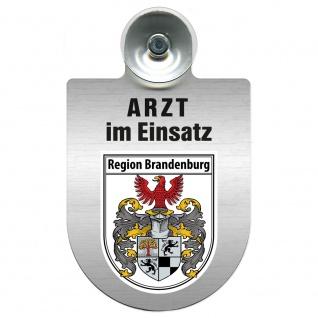 Einsatzschild Windschutzscheibe incl. Saugnapf - Arzt im Einsatz - 309352 Region Brandenburg