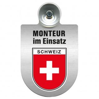 Einsatzschild Windschutzscheibe incl. Saugnapf - Monteur im Einsatz - 309741 Region Schweiz