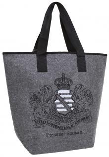 Edle Filztasche mit großflächigem Stickmotiv - FREISTAAT SACHSEN - 26027 - Shopper Bag