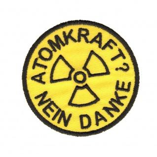 Aufnäher Patches rund Atomkraft? Nein Danke Gr. ca. 8 cm 20632