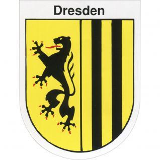 Aufkleber - Dresdener Wappen - 301474/3 - Gr. ca. 6 x 8 cm