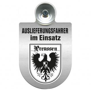 Einsatzschild Windschutzscheibe incl. Saugnapf - Auslieferungsfahrer im Einsatz - 309365 Region Preussen