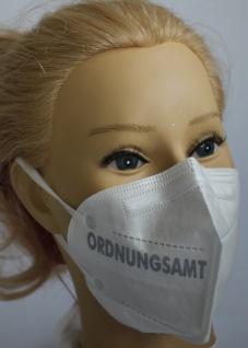 1x FFP2 Maske Deutsche Herstellung CE zertifiziert mit Aufdruck - Ordnungsamt