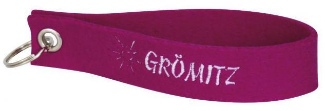 Filz-Schlüsselanhänger mit Stick Grömitz Gr. ca. 17x3cm 14216 pink