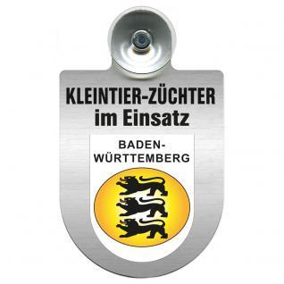 Einsatzschild Windschutzscheibe incl. Saugnapf -Kleintierzüchter im Einsatz - 309360-1 - Region Baden-Württemberg