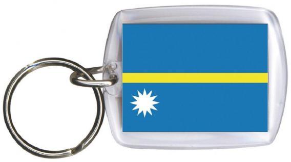 Schlüsselanhänger Anhänger - NAURU - Gr. ca. 4x5cm - 81115 - Keyholder WM Länder