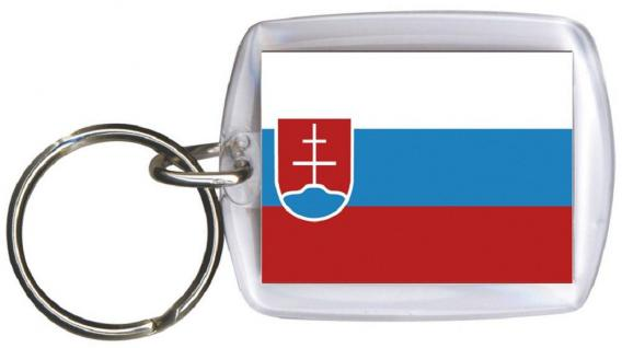 Schlüsselanhänger Anhänger - SLOWAKEI - Gr. ca. 4x5cm - 81152 - Keyholder WM Länder