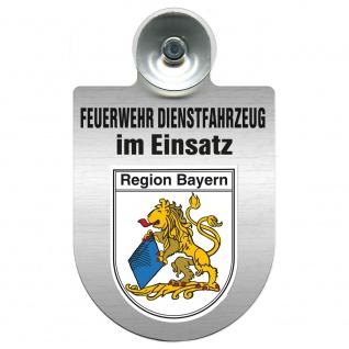 Einsatzschild Windschutzscheibe incl. Saugnapf - Feuerwehr Dienstfahrzeug im Einsatz - 393801 - incl. Regionen nach Wahl Region Bayern