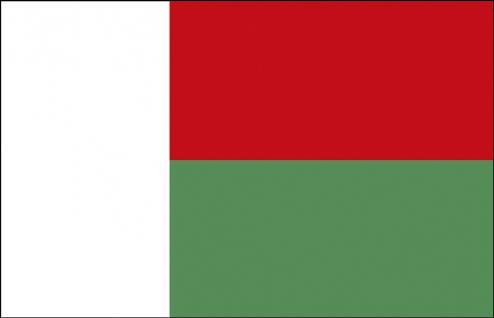 Stockländerfahne - Madagaskar - Gr. ca. 40x30cm - 77097 - Schwenkflagge Flagge Fahne