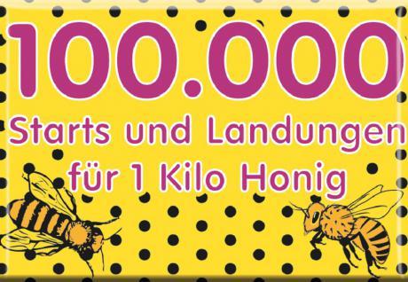 Küchenmagnet - 100.000 Starts... - Gr. ca. 8 x 5, 5 cm - 38328 - Magnet