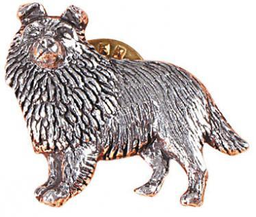 Anstecknadel - Metall - Pin - Sheltie - Hund - 02619