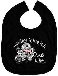 Baby-Lätzchen - Druckmotiv - Opas Bike - 07003 - schwarz