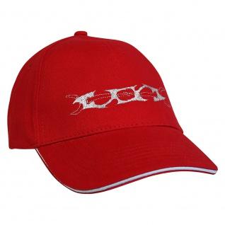Baseballcap mit Einstickung Tribal 68386 rot