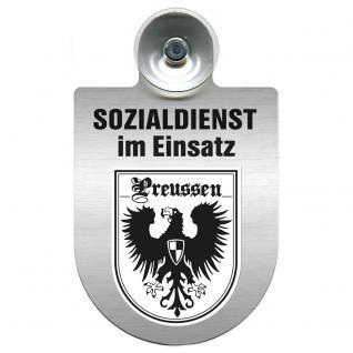 Einsatzschild Windschutzscheibe incl. Saugnapf - Sozialdienst im Einsatz - 309388-19 - Region Preussen