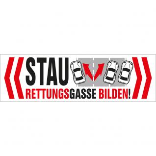 PVC-Aufkleber - STAU ? Rettungsgasse bilden ! - 302066/1 - Gr. ca. 15cm x 4, 5cm