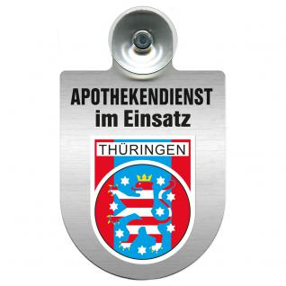 Einsatzschild Windschutzscheibe incl. Saugnapf - Apothekendienst im Einsatz - 309397-13 Region Thüringen