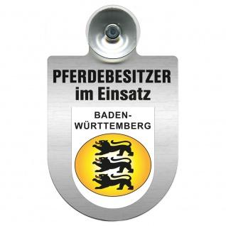 Einsatzschild mit Saugnapf Pferdebesitzer im Einsatz 393830 Region Baden-Württemberg