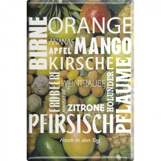 KÜCHENMAGNET - Orange Mango Pfirsisch Obstnamen - Gr. ca. 8 x 5, 5 cm - 38816 - Magnet