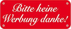 PVC-Aufkleber - BITTE KEINE WERBUNG - 302082/1 - Gr. ca. 48 x 20 mm