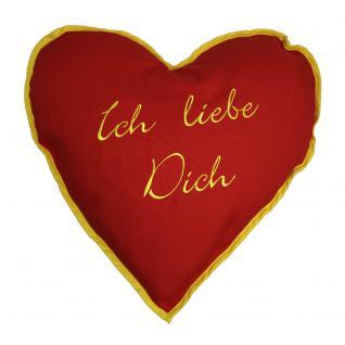 Herzkissen Kissen 38 cm Herz Valentinstag Muttertag ICH LIEBE DICH - 11412 - Dekokissen