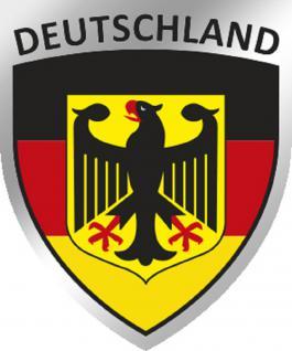3D-EPOXY Aufkleber Applikation - Deutschland Adler - 303801-3 - Gr. ca. 2, 5x 3cm
