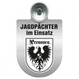 Einsatzschild Windschutzscheibe incl. Saugnapf - Jagdpächter im Einsatz - 09757 - Region Preussen