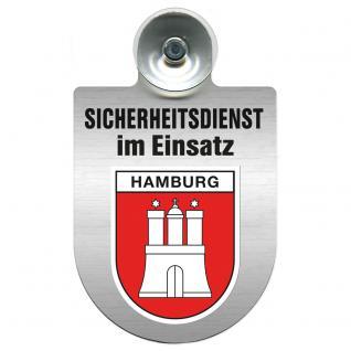 Einsatzschild Windschutzscheibe incl. Saugnapf - Sicherheitsdienst im Einsatz - 309351 Region Hamburg