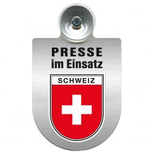 Einsatzschild Windschutzscheibe incl. Saugnapf - Presse im Einsatz - 309456-22 Region Schweiz
