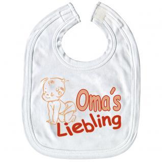 Baby-Lätzchen mit Druckmotiv -Omas Liebling - 08402 weiß