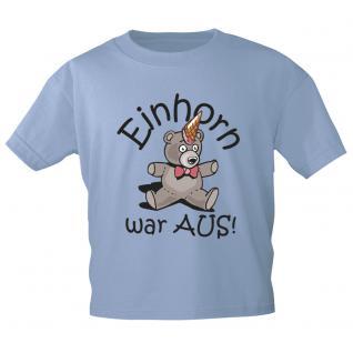 Kinder T-Shirt mit Print - Einhorn war aus - 12269 - hellblau / 122/128