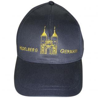 Cap - Schirmmütze bestickt - Heidelberg Dom Germany - 68860 schwarz - Baumwollcap Cappy Baseballcap Hut