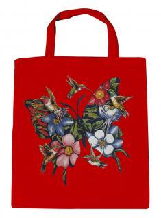 (U06993)Umweltfreundliche Baumwoll - Tasche , ca. 28 x 43 cm mit Aufdruck in 7 Farben rot