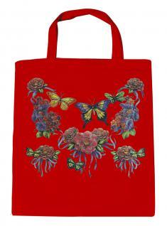 (U09943)Umweltfreundliche Baumwoll - Tasche , ca. 28 x 43 cm mit Aufdruck in 7 Farben rot